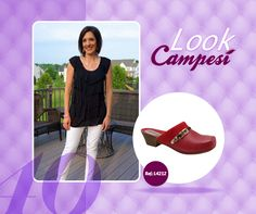 Look neutro com #Campesí vermelho. #red #shoes #look