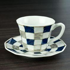 銀彩市松C&S - 和食器通販 うつわ耶馬都|食卓を彩る作家もの陶器・磁器のお店