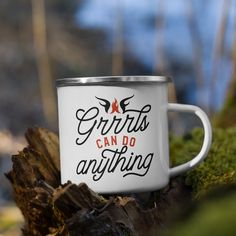 Grrrls Can Do Anything Archives - WarriorGrrrls Birthday Mug, 50th Birthday Gifts, Friend Birthday, Coffee Quotes, Coffee Mugs, Take Away Cup, Travel Coffee Cup, Autumn Coffee, Camping Gifts