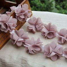 Chiffon Leaves Trim Dust Pink Trim Dress Costume Headwear Home Decor Supplies 2.37 Inches Wide