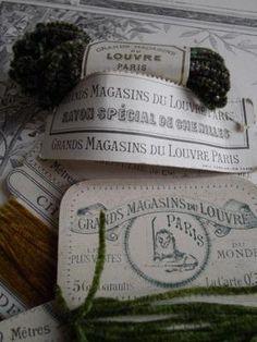 SUPERB  ANTIQUE FRENCH CHENILLE THREADS ORIGINAL PARIS CARDS BELLE BROCANTE CHIC