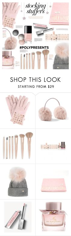 """#PolyPresents: Stocking Stuffers"" by margaretferreira ❤ liked on Polyvore featuring Valentino, Saks Fifth Avenue, Yves Salomon, Lazy Days, Burberry, contestentry and polyPresents"