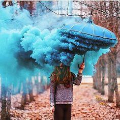 Amazing Photography Edit  By @hobopeeba   Smoke bomb?? Genius.