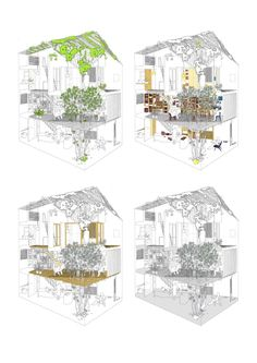 Great illustration/sectional perspective. a21house / a21 studio