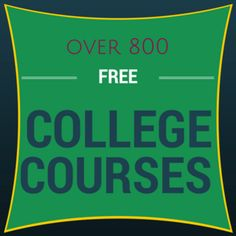 Over 800 free college courses. Take them for the certificate, to complete high s… Over 800 free college courses. Take them for the certificate, to complete high school credit, or simply for the knowledge! - Home School blo High School Credits, Free Education, Education College, Business Education, College Classes, Music Education, Primary Education, Business Technology, Education System