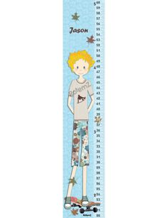 Vinyl Or Canvas Growth Chart For Girls White And Pink With Baby