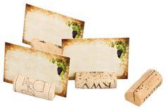 20 segnaposto da tavolo / cartellini segnaposto fatti con tappi da vino, per matrimoni, compleanni, feste e celebrazioni varie: Amazon.it: Casa e cucina