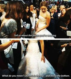 Best Red Carpet answer ever. That is exactly what I would do. :)