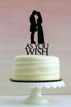 Princess Bride Wedding Cake Topper // As You by Silhouetteweddings
