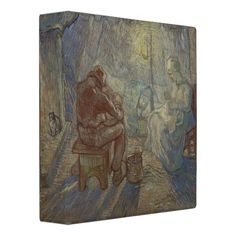 Night after Millet by Vincent Van Gogh 3 Ring Binder