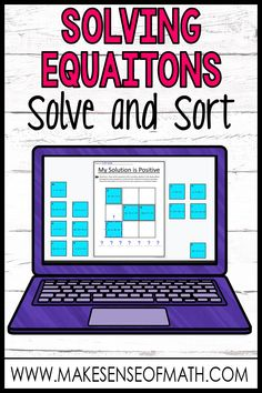 Check out this fun solving equations activity for distance learning and google classroom.  Your 7th grade and middle school math students will love this fun worksheet to practice solving equations with integers and the distributive property.   Click here to check out this product.  #makesenseofmath Algebra Activities, Math Resources, Maths Algebra, Teaching Activities, Teaching Ideas, Google Classroom, Math Classroom, Seventh Grade Math, Ninth Grade