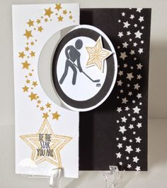 September 12, 2014 North Shore Stamper: Simply Sports, Be The Star, Star Boarder Punch, Circle Card Thinlit Die, Star Framelits