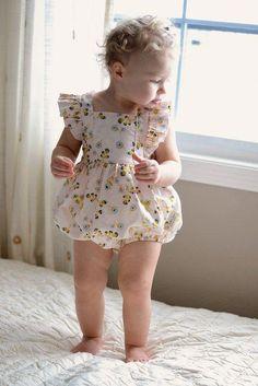 Little Lizard King - Bellevue Romper Baby Girl Romper, Little Girl Dresses, Baby Dress, Flower Girl Dresses, Girls Dresses, Toddler Dress, Toddler Outfits, Kids Outfits, Toddler Girls