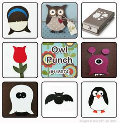 Owl Punch ideas - Stampin\' Up