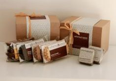 Whimsy and Spice's Classic Sampler Gift Box including espresso brownies laced with dulce de leche.