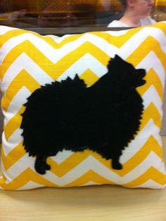 Pomeranian pillow. $27.50, via Etsy.