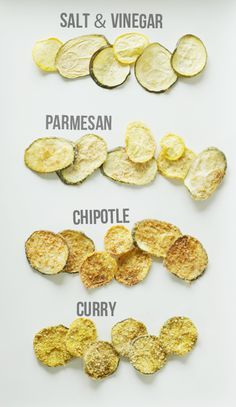 The Copper Collective: Zucchini Chips 4 Ways