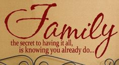 Family Wall Sayings  the secret to having it all is knowing you already do 48 X 24  Large Vinyl Wall Decal phrase Word Art sticker quote