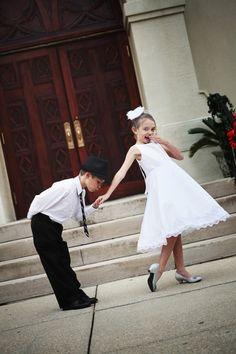 Flower girl and ring bearer photo. OMG so cute!!