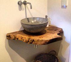 diy ideas Fa, Wabi Sabi, Rustic Furniture, Master Bath, Tiny House, Counter, Diy Ideas, Sink, Vanity