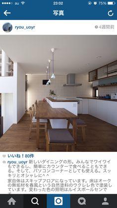 カウンター型ダイニング キッチンの壁、デザイン