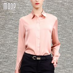 high quality fabric http://roromendut.org/product/32655740853/elegant-pink-apricot-solid-tops-pure-silk-blouse-women-ol-shirts-blusas-y-camisas-mujer-blusa-camisetas-y-tops-roupas-lt378.php