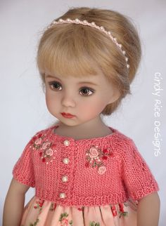 """""""Princess in Peach"""", a hand made and OOAK ensemble made for Dianna Effner's Little Darling dolls, cindyricedesigns.com"""