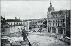 Obras en el comienzo de la Gran Vía, durante su construcción, 1911 Fotografía de prensa.