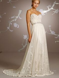 Ivory Hand Beaded and Embroidered Sweetheart Bridal Gown