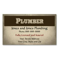 2033 Best Plumbing Plumber Business Cards Images On Pinterest