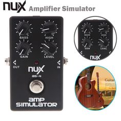 NUX AS-4 Amplifier Simulator Pedal Electric Guitar Effect Pedal True Bypass Black High Quality Guitar Parts and Accessories #women, #men, #hats, #watches, #belts, #fashion, #style