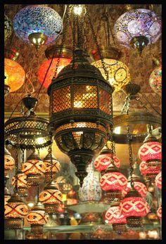 Lanterns in The Grand Bazaare Istanbul, Turkey