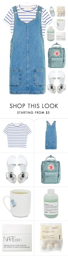 """We Are The Reckless, We Are The Wild Youth"" by holunderbluete ❤ liked on Polyvore featuring Topshop, Cheap Monday, Fjällräven, Davines, NARS Cosmetics, Xiao Wang and pastel"