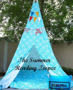 Fun place for kids to read in the summer!