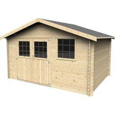 Abri de jardin en bois seppo naterial m p 28 mm abris et pergolas pinterest ps - Abri de jardin en bois naterial tepsa ...