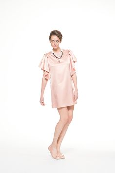 Mini dress with airy sleeves