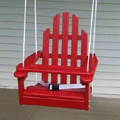 Kiddie Porch Swing for baby or toddler looks like an Adirondack chair #patio #children