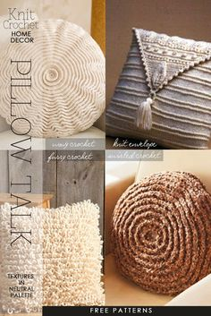 Pillows for your living room - modern, vintage, ethnic free patterns to knit and crochet - DiaryofaCreativeFanatic