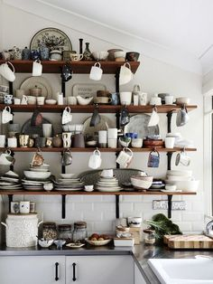 'complicated crockery' | Shelving |  Kylie Johnson — The Design Files