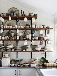 'complicated crockery' | Shelving |  Kylie Johnson — The Design Files
