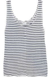 Le Muscle striped linen tank | Frame | 55% off | US | THE OUTNET