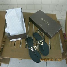 Gucci flat thong sandals. Size 7 New in box. In perfect new condition. Authentic Gucci. No trade. Gucci Shoes