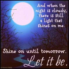 ❥ Let it be...