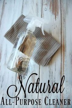 Natural All-Purpose Cleaner - I love products that have multiple uses and that is why I love a good all-purpose cleaner. One bottle to clean almost every surface in my house. It's even greater when that bottle is a natural all-purpose cleaner! #allpurpose #cleaner #natural #greencleaning #cleaning Green Cleaning Recipes, Natural Cleaning Recipes, Natural Cleaning Products, Diy Cleaners, Cleaners Homemade, Kitchen Cleaners, Cleaning Spray, Cleaning Tips, Cleaning Solutions