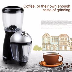 Professional Coffee Grinder Home Electric Grinding Machine Equipped With 420 Stainless Steel Grinding Disk Coffee Maker Coffee Spoon, Coffee Cups, Coffee Coffee, Coffee Maker Machine, Manual Coffee Grinder, Wall Watch, Electric House, Grinding Machine, Essential Kitchen Tools