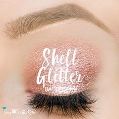 Limited Edition Shell Glitter ShadowSense is a perfect pink infused with pink, red and gold glitter. I can imagine so many looks using this and other colors. #shadowsense #senegence #eyeshadow #limitededition