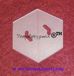 Hexagono Templatesquick ® ™ plantilla plastico reutilizable