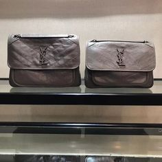 Saint Laurent Medium Niki Chain Bag In Vintage Crinkled