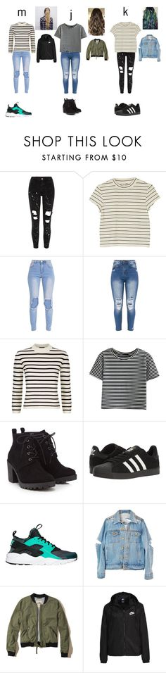 """j&m&k looks #2"" by merel-meuleman on Polyvore featuring mode, Monki, Theory, Red Herring, adidas, NIKE en Hollister Co."