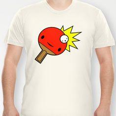 Ping and Pong! T-shirt by Mark Leggett - $18.00